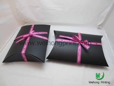 wrap boxes with red ribbons?