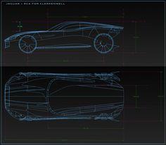Jaguar Design Sculpture by RCA students - CAD wireframe views