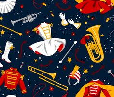 Band of Majorettes fabric by logan_spector on Spoonflower - custom fabric- OMG for those who know me!