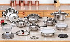 28pc. 12Ply T304 Stainless Steel, Waterless Cookware set NEW!!