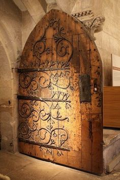 Wonderful 14th Century door.