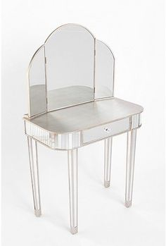 Fairest Of Them All Vanity Table from Urban Outfitters. Saved to Future Home. Shop more products from Urban Outfitters on Wanelo. Mirrored Vanity Table, Mirrored Furniture, Mirror Vanity, Glass Vanity, Vanity Tables, Mirrors, Silver Vanity, Vanity Room, Vanity Set
