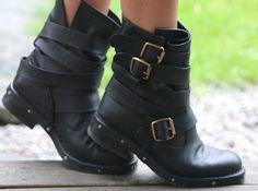 biker boots.                                                                                                                                                     More