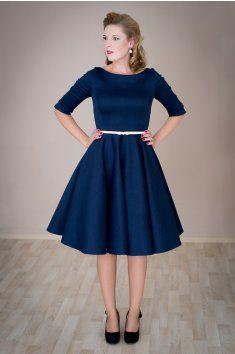 ADELE retro šaty modré denim modrá pásek kolová sukně 50.léta handmade ruční výroba česká výroba svatba romantika MiaBellaCZ MiaBella  http://www.miabella.cz/retro-saty-sukne/adele-retro-saty-modre-denim/