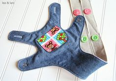 cute version of Little Things to Sew's bear carrier - use snaps instead of velcro