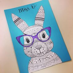 Teaching Resource: A fun Easter craft activity using an Easter bunny with funky glasses.