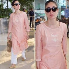 Kareena Kapoor Khan's desi Look at the airport FAB or DRAB? #bollywoodstyle #bollywoodfashion #bollywood #indianfashion #celebstyle…