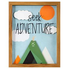 We love this Seek Adventure Framed Art from Target's new Pillowfort™ collection