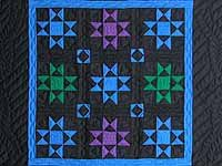Amish Ohio Stars Wall Hanging; Amish Country Quilts