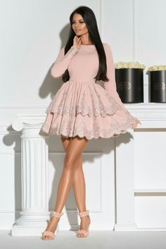 Buy directly from the world's most awesome indie brands. Or open a free online store. - - Round Neck Dress,Long Sleeves Dresses,A-line Homecoming Dresses on Storenvy Source by cecileeeeeeee Light Pink Homecoming Dresses, Long Sleeve Homecoming Dresses, Hoco Dresses, Sexy Dresses, Casual Dresses, Fashion Dresses, Summer Dresses, Formal Dresses, Wedding Dresses