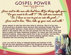 Gospel Power LENT 4C – Tuesday