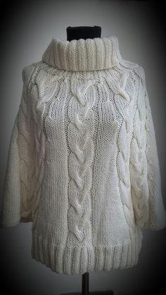 Patrón para tejer un sweater de mangas amplias