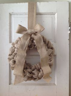 ;) Burlap Wreath with Large Bow...