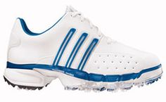 adidas 08 Powerband Golf Shoe White/Blue 1 -year waterproof warranty POWERBAND CHASSIS is a unique, cradling TPU-midsole frame that provides increased leverage and support to promote greater power and control GripZone locks the foot in place http://www.comparestoreprices.co.uk/golf-shoes/adidas-08-powerband-golf-shoe-white-blue.asp
