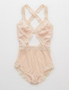 Be Pretty In Pink in the Aerie Lace Cutout Bodysuit Lingerie Vintage, Cute Lingerie, Satin Lingerie, Women Lingerie, Classic Lingerie, Lingerie Dress, Luxury Lingerie, Ropa Shabby Chic, Trendy Swimwear