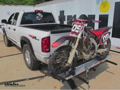 """Rage PowerSport Motorcycle Carrier with Long Ramp and Aluminum Track for 2"""" Hitches - 600 lbs Rage Powersports Hitch Cargo Carrier SMC600"""