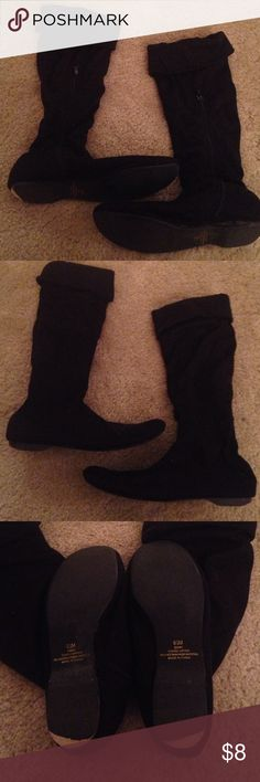 B.P. Nordstrom black slouchy boots size 6.5 M B.P. Nordstrom black slouchy boots size 6.5. Minor wear on heel color, but still good condition with lots of wear left bp Shoes Heeled Boots