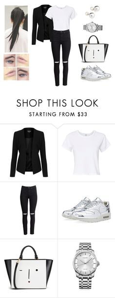 """""""Afternoon Walk"""" by muppets-cookie-monster ❤ liked on Polyvore featuring Topshop, RE/DONE, H&M, NIKE, Lulu Guinness, Calvin Klein and Yoko London"""