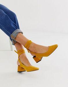 0c8f204911e2f Image 1 of ASOS DESIGN Steps tie leg mid heels Asos