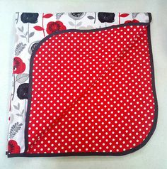 Hey, I found this really awesome Etsy listing at https://www.etsy.com/listing/294883529/red-grey-black-and-white-floralpolka-dot