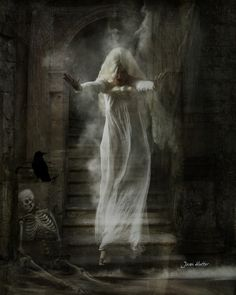 Ghost On The Stairs - Jean Hutter - Digital Views