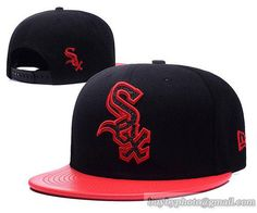 6e3296cf8b3 Chicago White Sox Snapback Hats Pu Leather Brim