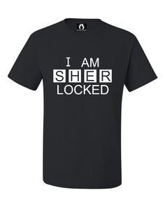 Adult I Am Sherlocked Sherlock Holmes Inspired T-Shirt
