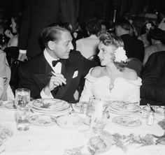 Judy and her then-husband, composer Dave Rose, are shown at a Navy Relief Ball held at the Ambassador Hotel in Los Angeles, Vintage Hollywood, Classic Hollywood, Dave Rose, Ambassador Hotel, Concert Stage, Coconut Grove, Famous Singers, Judy Garland, Celebs