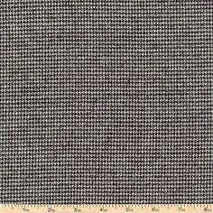 Shetland Houndstooth Flannel Fabric - Grey