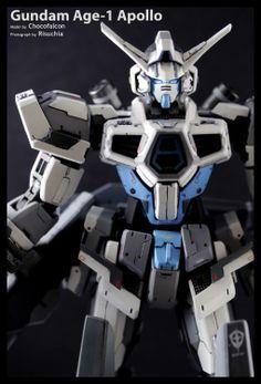 MG 1/100 Gundam AGE-1 Apollo Custom Build - Gundam Kits Collection News and Reviews
