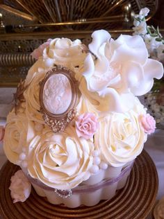 Giant cupcake made for a Modern Marie Antoinette themed photo