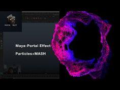 Maya tutorial MASH + particles Portal effect