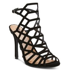 Women's Kylea Wide Width Caged Heel Gladiator Pumps with Straps -
