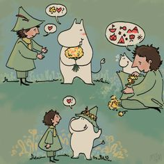 Flowers for Snufkin Moomin Valley, Fluffy Pillows, Cartoon Movies, Little My, Art Club, Cute Art, Animal Crossing, Art Inspo, Art Projects