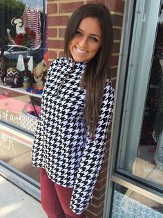 4836c53a3a42 Bama Game Day Pullover - Houndstooth from Chocolate Shoe Boutique