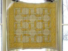 Yellow Celtic Twist Baby Quilt. $160.00, via Etsy.