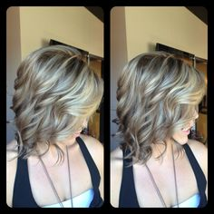 Amber Heater, Gorgeous Hair Salon, Salisbury MD Darker for fall, multitonal blonde, highlights and lowlights, ashy blonde, with soft curls