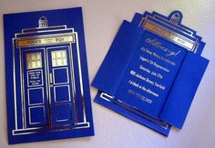 12 Doctor Who Tardis Birthday Invitations or by LegendaryLetters