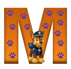 M paw patrol Dog Themed Parties, 3rd Birthday Parties, Birthday Party Decorations, Birthday Ideas, Cumple Paw Patrol, Outside Games, Cute Alphabet, Letter Symbols, Image Clipart