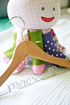 Personalized hanger- great for photos of baby's baptism clothes (by HandcraftedAffairs)