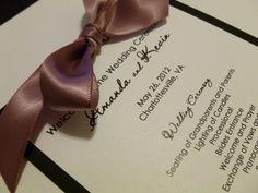 Wedding Ceremony Program by DESIGNEDBYDVB on etsy