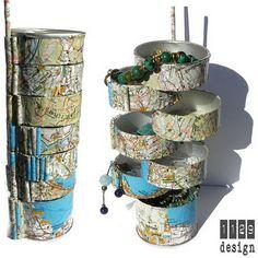 orecchini e gioielli 1129design - ispirazioni e divagazioni: Portagioie riciclato da tubo di patatine - Tutorial