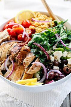 Balsamic Chicken Salad with Lemon Quinoa | http://cafedelites.com