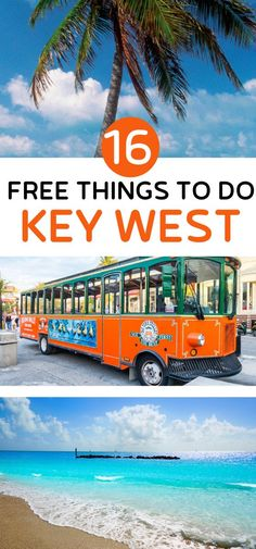 16 Free Things to do in Key West (+ the best paid activities to choose) Visit Florida, Florida Vacation, Florida Travel, Florida Beaches, Maui Travel, Florida Living, Travel Destinations, Key West Beaches, Key West Resorts