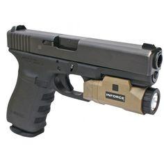 Inforce APL-F-W Auto Pistol Light Tan 200 Lumens CR123A Lithium Tan LIGHTS