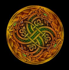 "Viking Fylfot (Swastika) Design. Clockwise it represents creation, anti-clockwise destruction. But don't be fooled: For pre-judeo-christian-islamic, pagan people, the concept of good and evil did NOT exist!!! They, rightly, understood creation and destruction as ""two sides of the same coin""... One can never exist without the other! The abrahamaic idea of getting rid of destruction (""evil"") is anti-natural, and idiotic, as the basic law of the universe is that everything has it's polarity!"