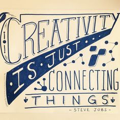 Creativity is just connecting things Funny Motivational Quotes, Inspirational Quotes, This Is Us Quotes, Me Quotes, Write Your Own Story, Character Quotes, Blog Topics, Steve Jobs, Wall Art Quotes