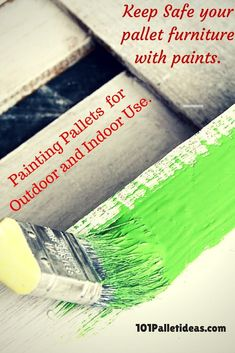 pallet furniture painting ideas