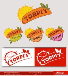 Torpis juice logo design