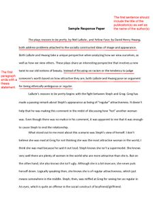 Write an Effective Response Paper with These Tips: The First Paragraph
